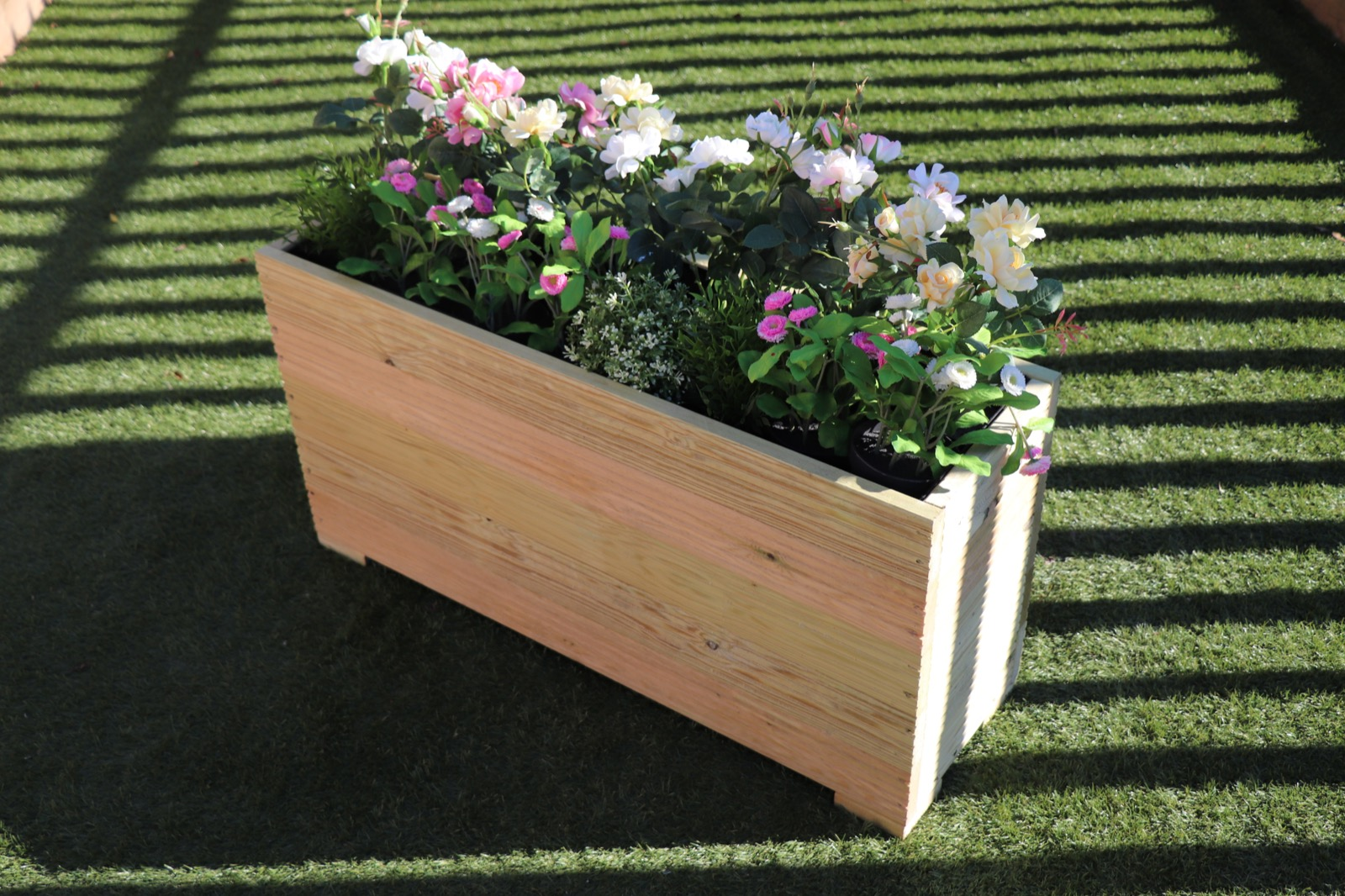 100x32x53 cm extra tall wooden garden planter trough. Black Bedroom Furniture Sets. Home Design Ideas