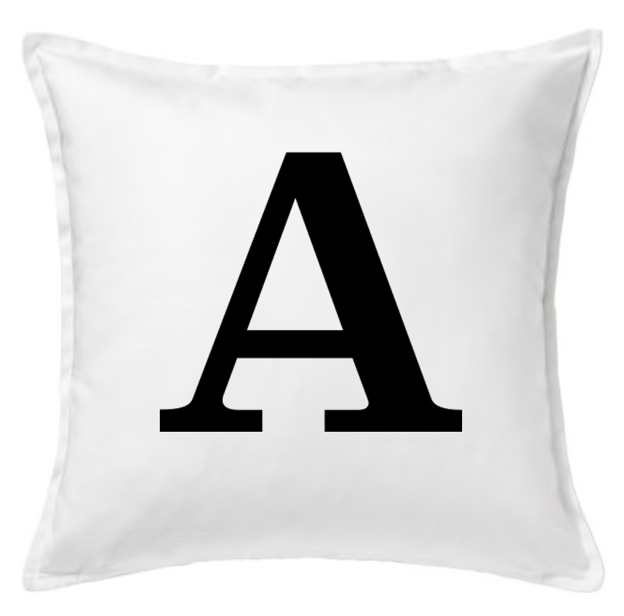 Large initial Cushion Cover